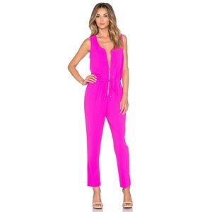 Trina Turk Fauve Jumpsuit in Brilliant Fuchsia🌺